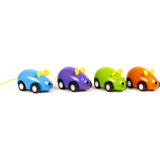Pull Back Mice, Set of 4 - Games - 1