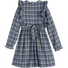 Alexandra Smocked Dress, Blue Check - Dresses - 3