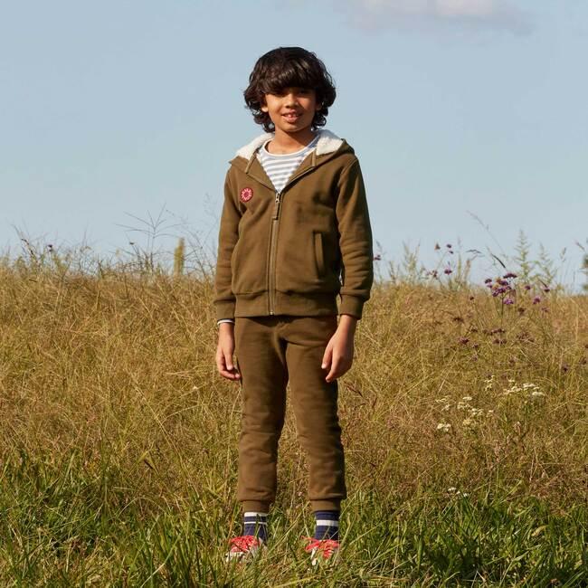 Luca Sherpa Hoodie, Army Green