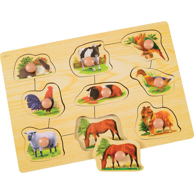 Jumbo Knob Animal Friends Puzzle