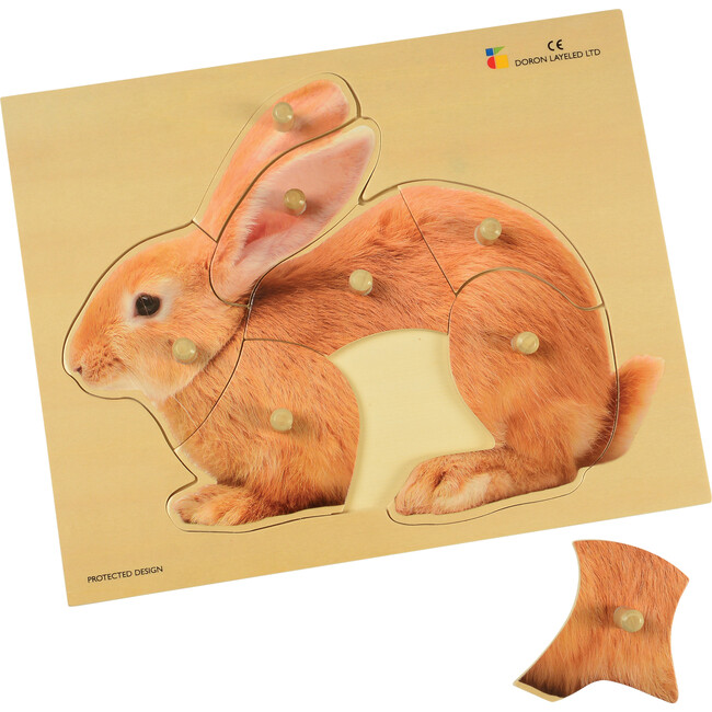 Bunny Large Knobbed Puzzle