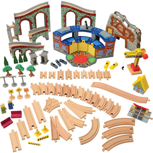 Train Table with Track and Accessories Set