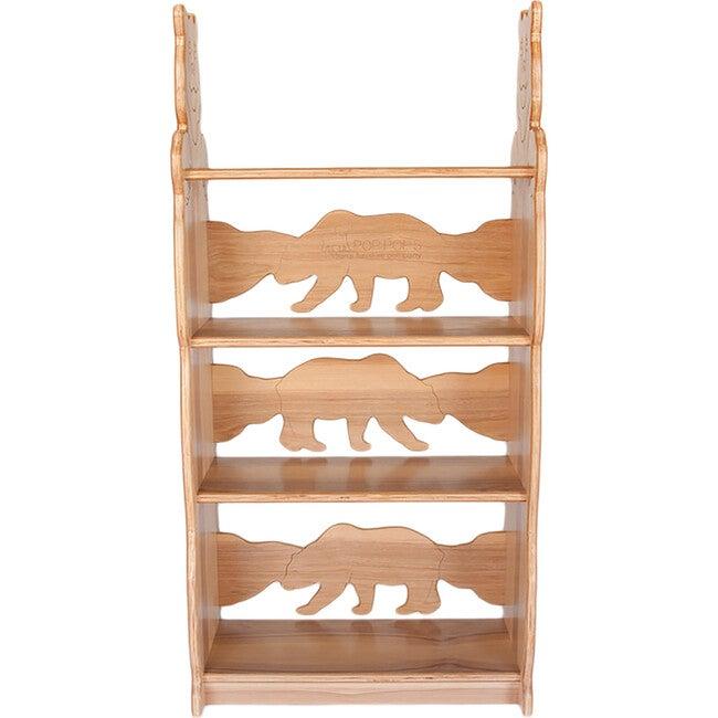 Bear Bookcase, Hickory