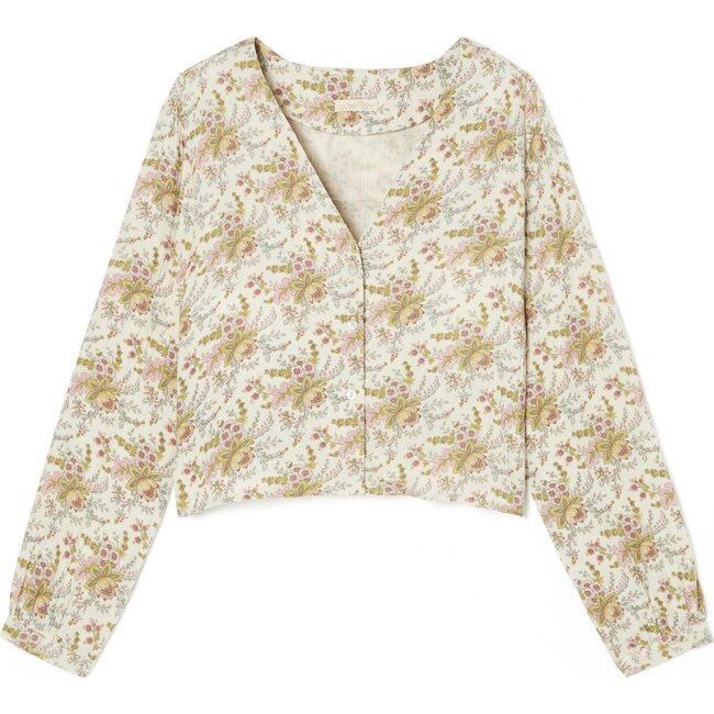 Women's Louanne Pajama Blouse, Off White