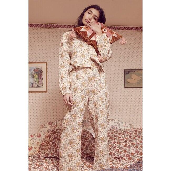 Women's Melycia Pajama Pants, Off White
