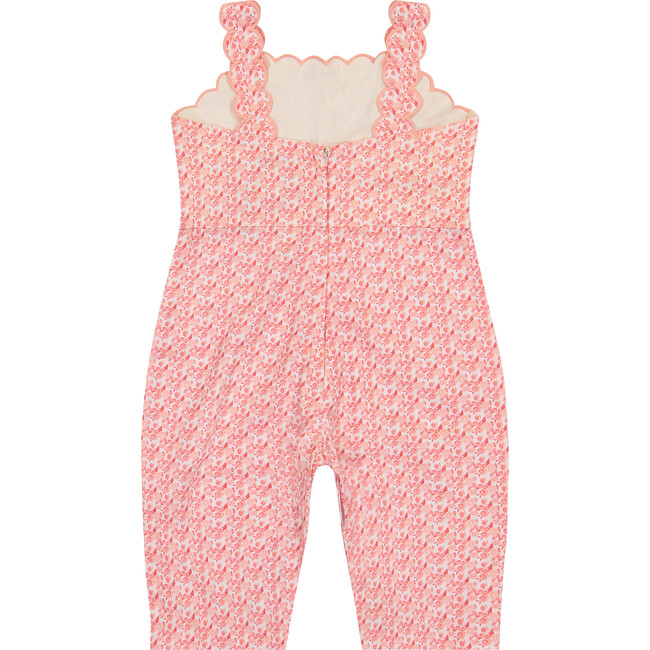 Bella Overall, Pink Tonal Floral
