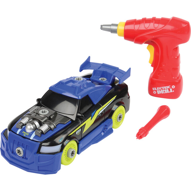 Build and Play Racecar with Lights and Sounds, Blue