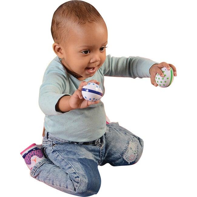 Toddler Egg Shakers, White