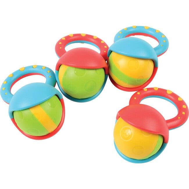 Roller Ball Rattles, Set of 4