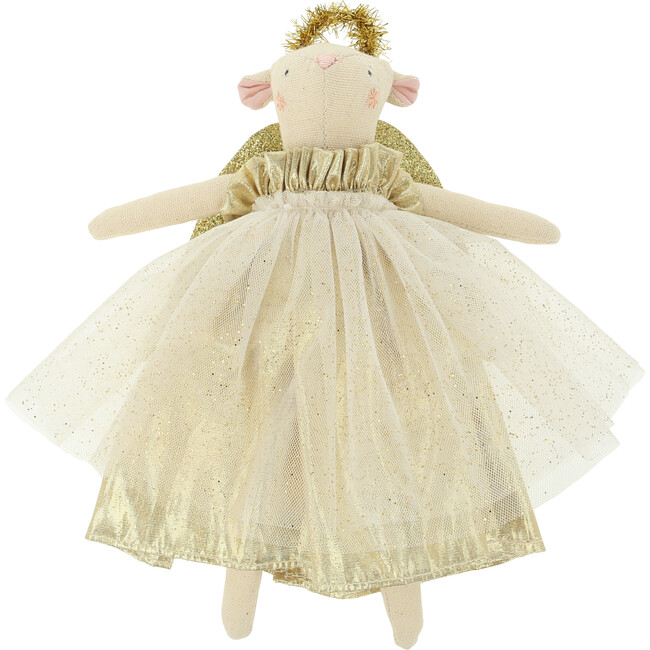 Gold Angel Mouse Tree Topper