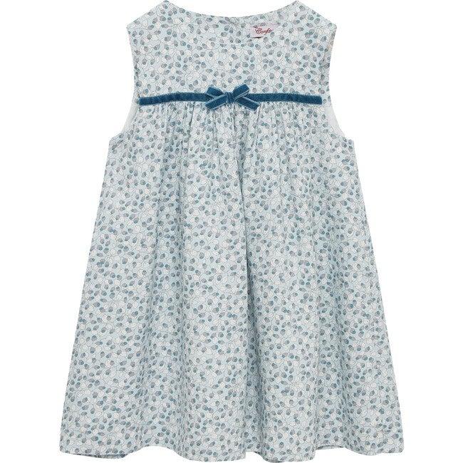 Gabriella Pinafore Dress, Sea Blue