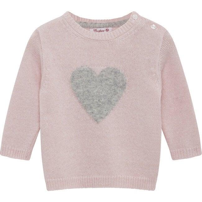 Baby Heart Jumper, Pink
