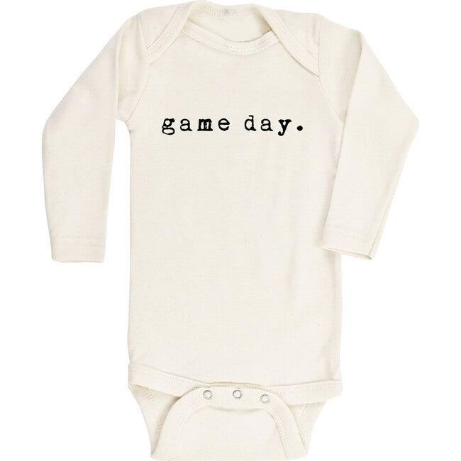 Game Day Long Sleeve Onesie, Black