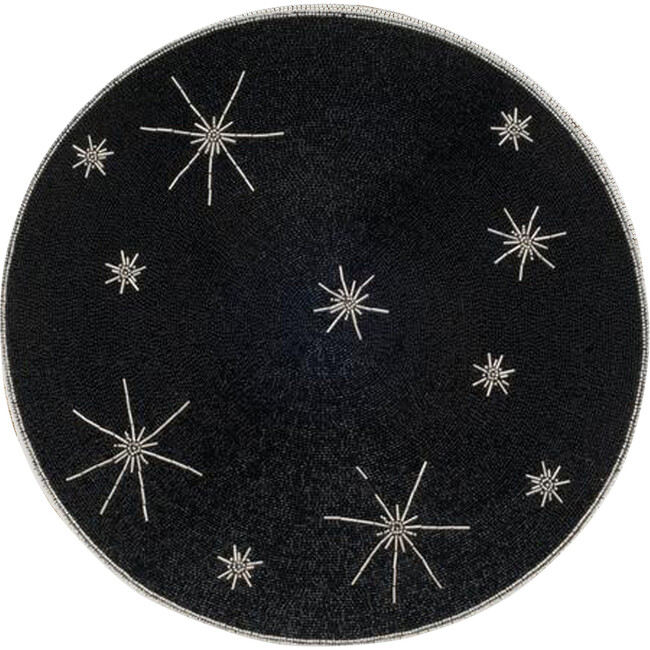 Star Placemat, Black & Silver