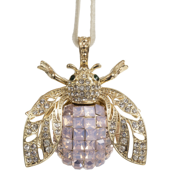 Sparkle Bee Hanging Ornament, Pale Pink