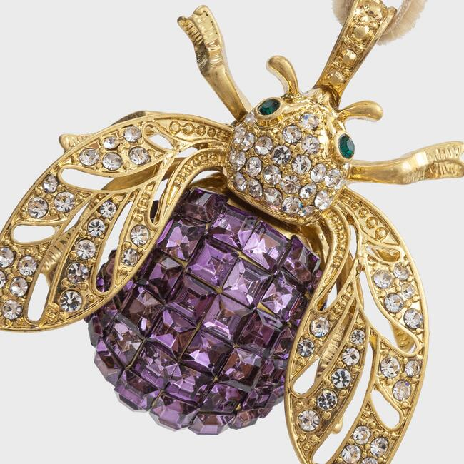 Sparkle Bee Hanging Ornament, Amethyst