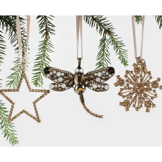 Sparkle Snowflake Ornament, Topaz