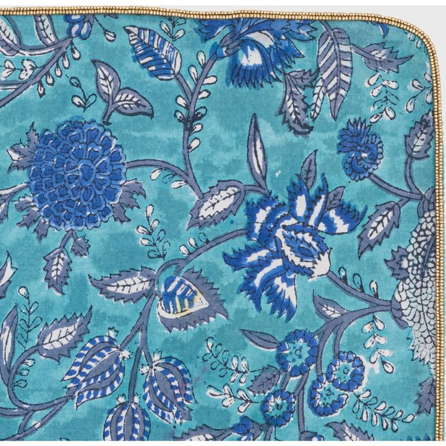 Paisley Placemat, Turquoise, Set Of Four