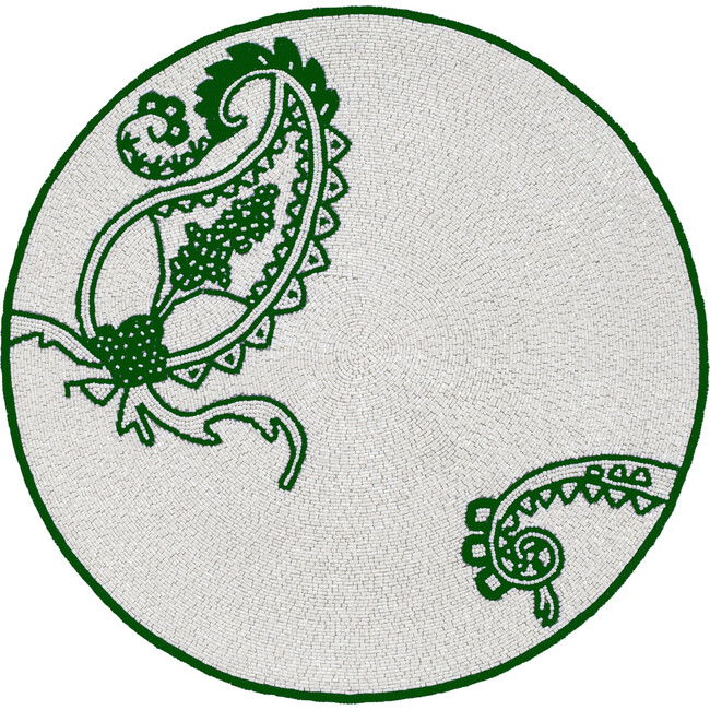 Paisley Placemat, Emerald