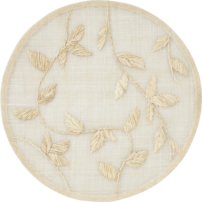 Straw Leaf Placemat, Natural