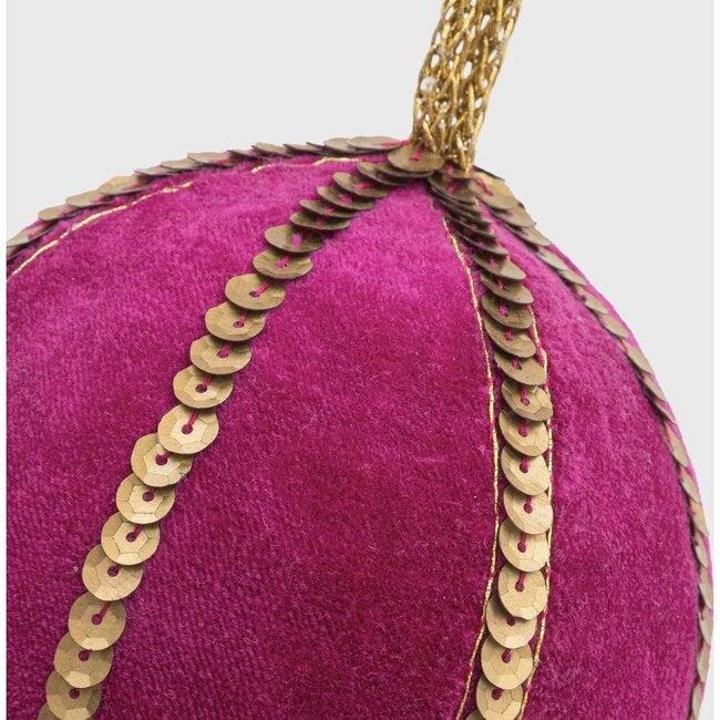Large Velvet Sequin Ball , Bright Pink