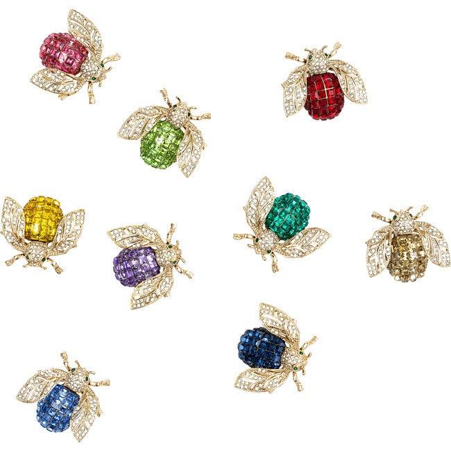 Sparkle Bee Wreath Clips Boxed Set, Rainbow - Wreaths - 1