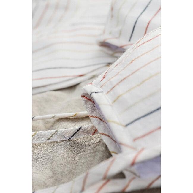Sunset Stripe Linen Bonnet