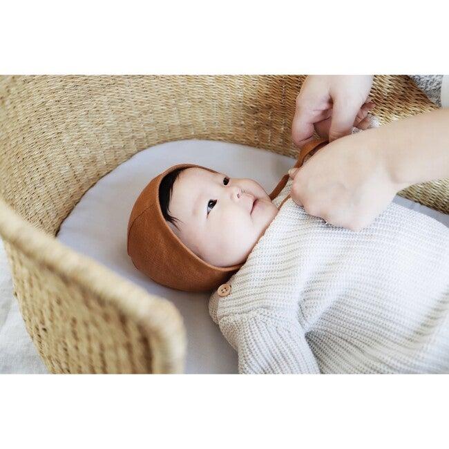 Rust Linen Bonnet