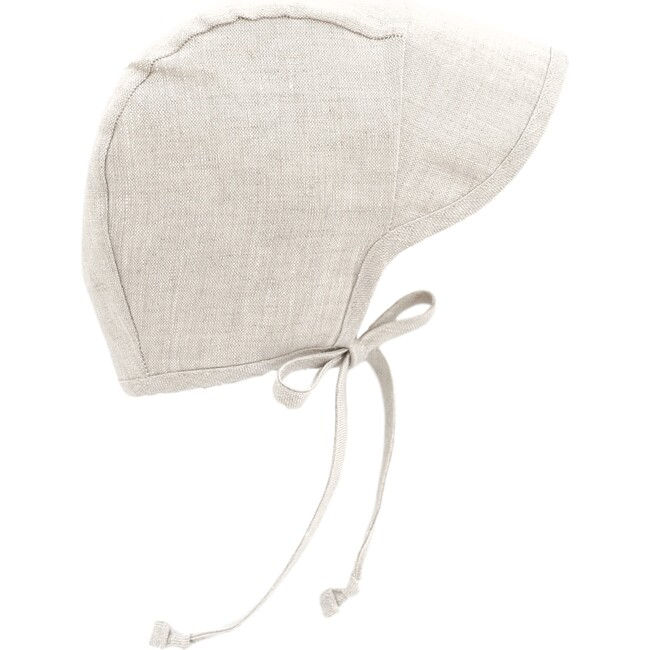 Brimmed Sand Linen Bonnet