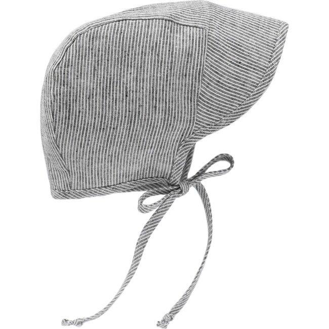 Brimmed Natural Stripe Bonnet