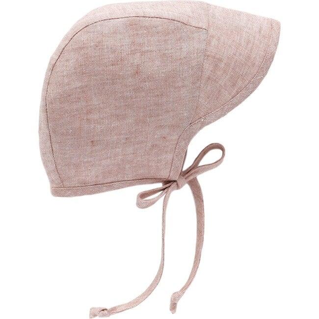 Brimmed Blush Linen Bonnet