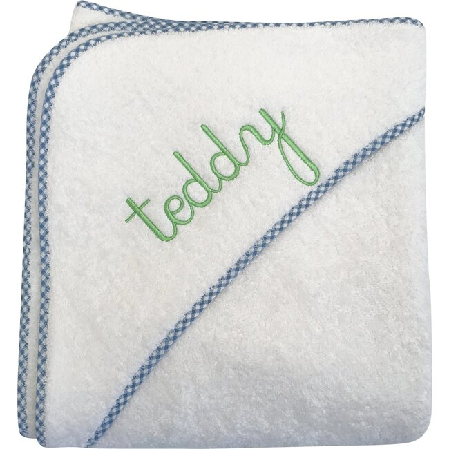 Monogrammable Hooded Terry Towel, Light Blue