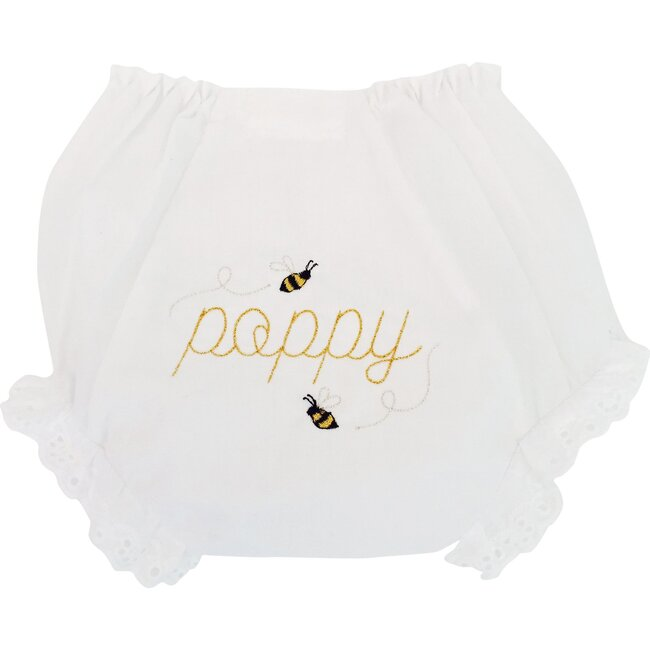 Monogrammable Diaper Cover, Bee Print