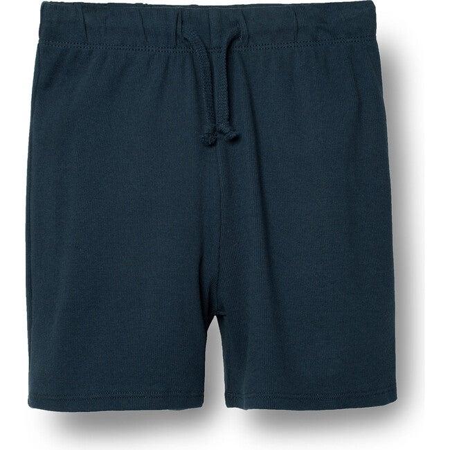 Ribbed Shorts, Navy
