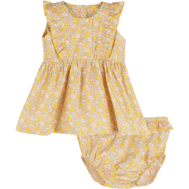 Camilla Dress w/ Bloomer, Cluster Floral