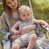 Matteo Overall, Blue Yellow Check - Overalls - 4