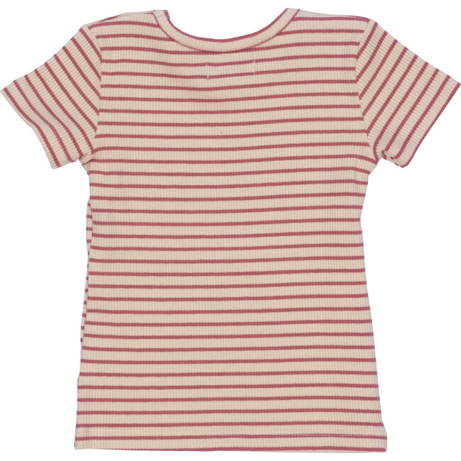 Kai Short Sleeve Tee, Pink & Natural Stripe