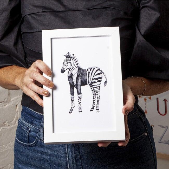 Fancy Animals Print, Zebra