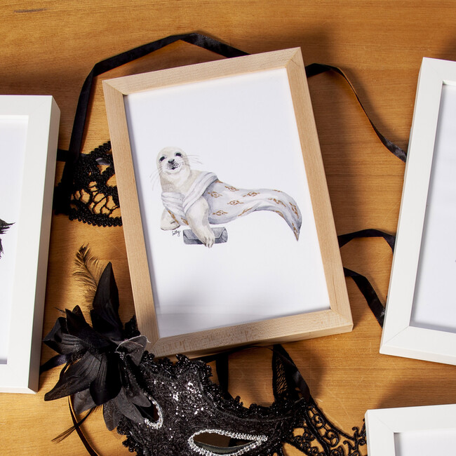Fancy Animals Print, Seal