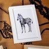 Fancy Animals Print, Zebra - Art - 3