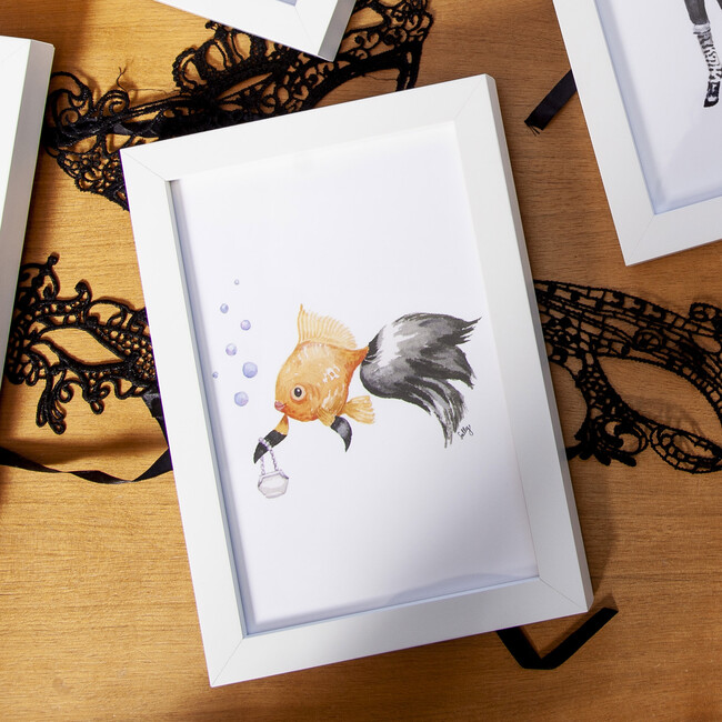 Fancy Animals Print, Goldfish