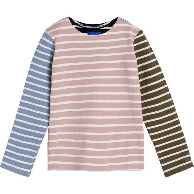 Sloane Striped Long Sleeve, Pink Multi