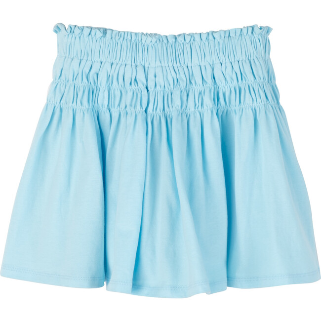 Robyn Jersey Skirt, Crystal Blue