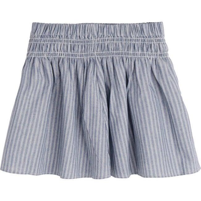 Viola Skirt, Stripe Chambray