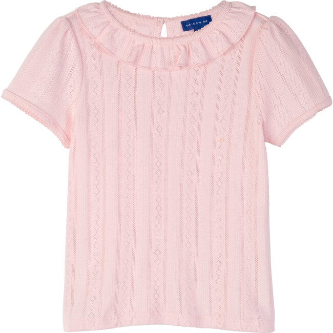 Monique Pointelle Tee, Pink - Shirts - 1