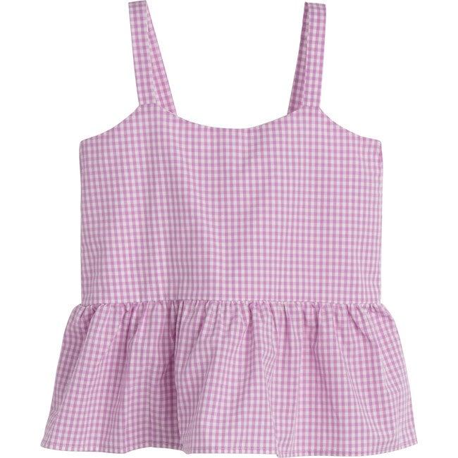 Imani Top, Mini Lavender Gingham - Shirts - 1