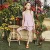 Imani Top, Mini Lavender Gingham - Shirts - 4