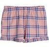 Pia Short, Pink Plaid - Shorts - 1 - thumbnail