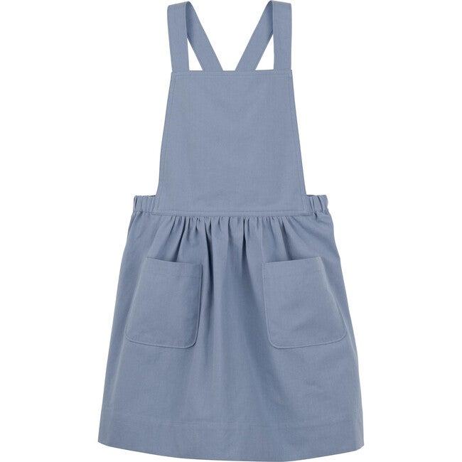 Millie Pinafore Dress, Dusty Blue
