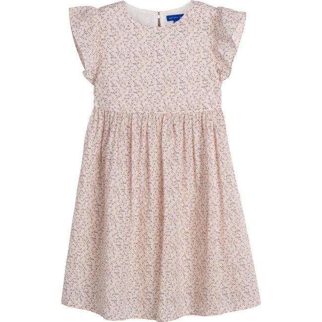 Lottie Dress, Light Pink Scattered Flower